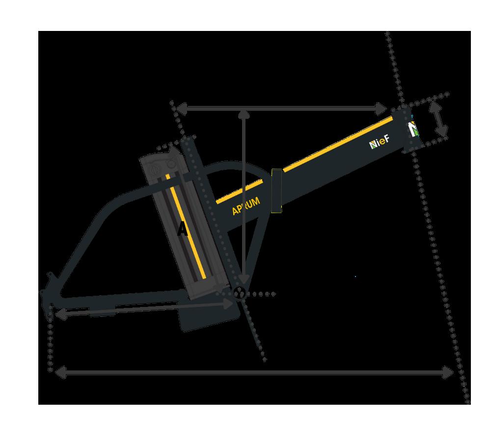 geometria telaio bicicletta elettrica pieghevole
